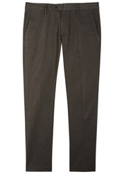 Nn.07 Theo Dark Brown Cotton Trousers