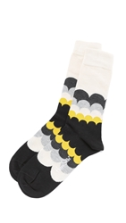 Happy Socks Rainbow Cloud Socks Black Yellow