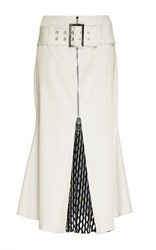 Beaufille Taurus Mesh Panel Skirt White