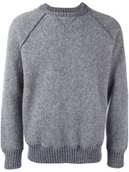 Al Duca D'aosta 1902 Knitted Long Sleeve Sweatshirt Grey