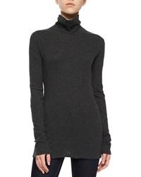 Rag And Bone Layering Turtleneck Tee Charcoal