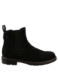 Bass Redstone Suede Double Gore Ankle Boots Black