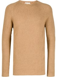 Ma'ry'ya Ribbed Knit Detail Sweater Neutrals