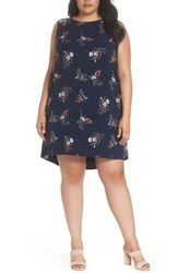 Gibson Plus Size Women's X Living In Yellow Becca Tank Dress Peacock Floral