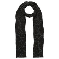 East Iridescent Beaded Scarf Black