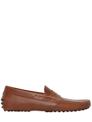 Tod's Gommino Leather Driving Shoes Light Brown