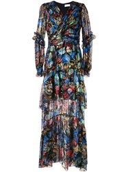 Peter Pilotto Blue Rny Iridescent Georgette Gown 60