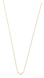 Ef Collection Diamond Mini Chevron Necklace Gold Diamond