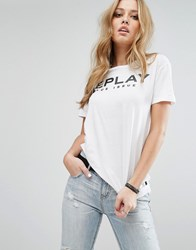 Replay Logo T Shirt White