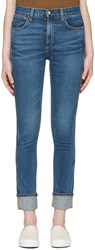 Rag And Bone Blue Lou Skinny Jeans