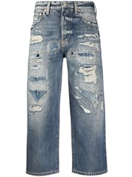 Givenchy Cropped Straight Leg Jeans Blue