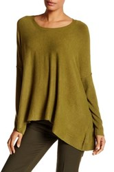 Eileen Fisher Scoop Neck Draped Boxy Sweater Blue