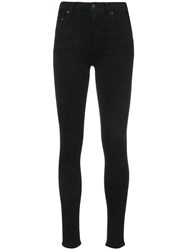 Citizens Of Humanity Skinny Jeans Women Cotton Polyester Polyurethane Rayon 25 Black