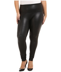 Lysse Plus Size Vegan Leather Legging Black Women's Casual Pants