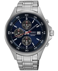 Seiko Men's Chronograph Special Value Stainless Steel Bracelet Watch 43Mm Sks475 No Color
