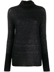 Patrizia Pepe Fitted Turtleneck Jumper Black