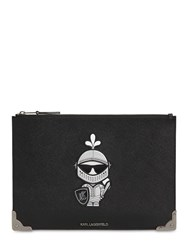 Karl Lagerfeld Treasure Coated Canvas Pouch Black