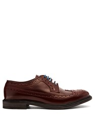 Burberry Leather Brogues Red