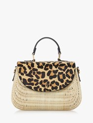 Dune Dathryn Basket Grab Bag Leopard