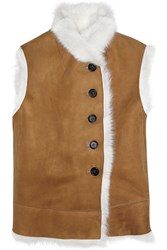 Joseph Lucy Shearling Vest Brown