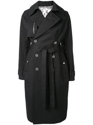 Unravel Project Belted Trench Coat Black