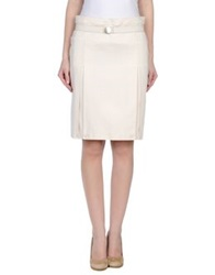 Gattinoni Knee Length Skirts Ivory