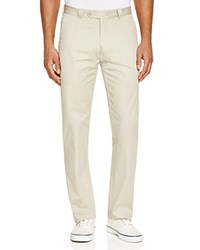 The Men's Store At Bloomingdale's Cotton Regular Fit Pants Simply Taupe