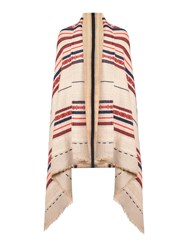 Dickins And Jones Stripe Blanket Scarf Camel