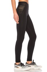 Blue Life Fit Strappy High Waist Leggings Black