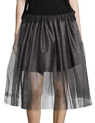 Necessary Objects Metallic Tulle Skirt Silver