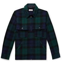 J.Crew Wallace And Barnes Checked Wool Blend Jacket Green