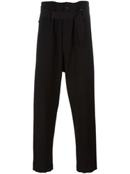 Ann Demeulemeester Blanche Drawstring Trousers Black