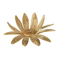 Aerin Marguerite Brass Flower Gold