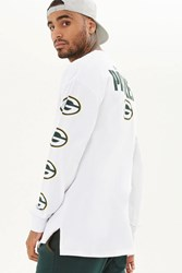 Forever 21 Nfl Packers Long Sleeve Tee White Green