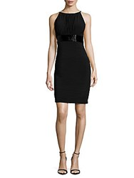 Js Boutique Shirred Empire Waist Dress Black
