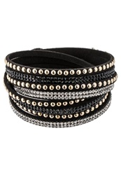 Sweet Deluxe Wanda Bracelet Black Crystal Goldcolored
