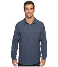 Columbia Silver Ridge Lite Long Sleeve Shirt Zinc Men's Long Sleeve Button Up Blue