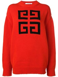 Givenchy 4G Logo Sweater Red