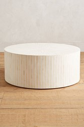 Anthropologie Rounded Inlay Coffee Table White