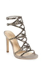 Imagine By Vince Camuto Women's Galvin Sandal Dove Grey Satin