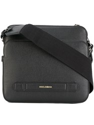 Dolce And Gabbana Double Compartment Messenger Bag Black