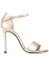 Marc Ellis Stiletto Sandals Women Leather 36 Metallic
