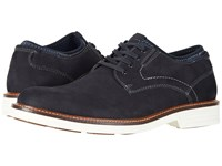 Dockers Parnell Alpha Plain Toe Oxford Navy Suede Shoes Blue