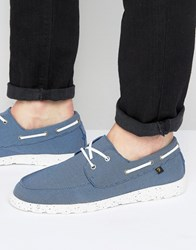 Farah Clegg Canvas Boat Shoes Navy