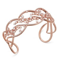 Danori Rose Gold Tone Crystal Openwork Cuff Bracelet Created For Macy's