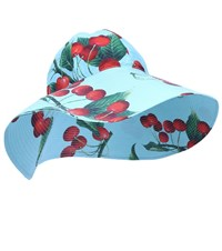 Dolce And Gabbana Exclusive To Mytheresa Cherry Printed Cotton Hat Blue