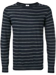 Closed Striped Knitted Sweater Men Virgin Wool S Blue