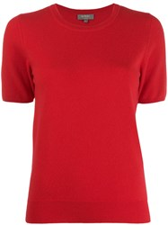 N.Peal Cashmere Short Sleeved Top Red
