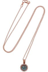 Ileana Makri Ireedp 18 Karat Rose Gold Diamond Necklace One Size