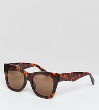 Weekday Oversized Acetate Sunglasses Brown